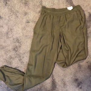 Army Green Joggers NWT